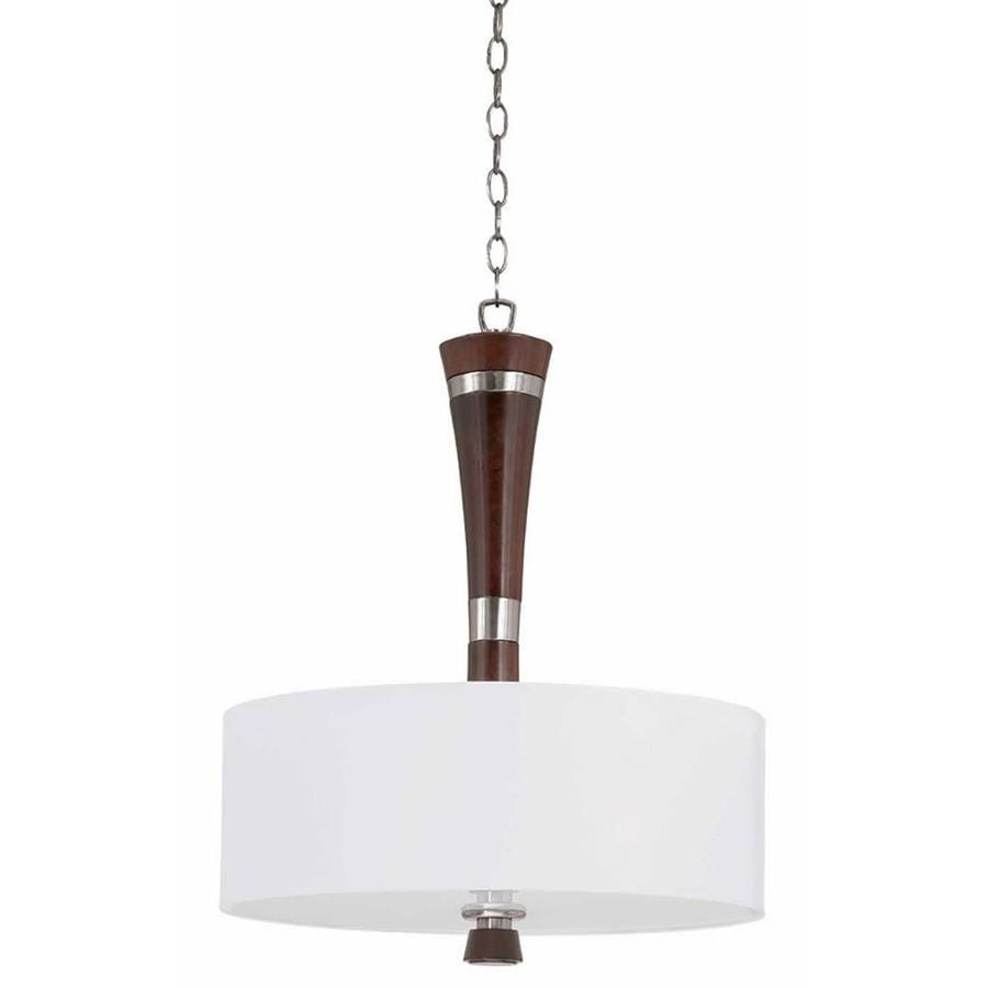 Decoste 20-in Redwood and Satin Nickel Single Pendant