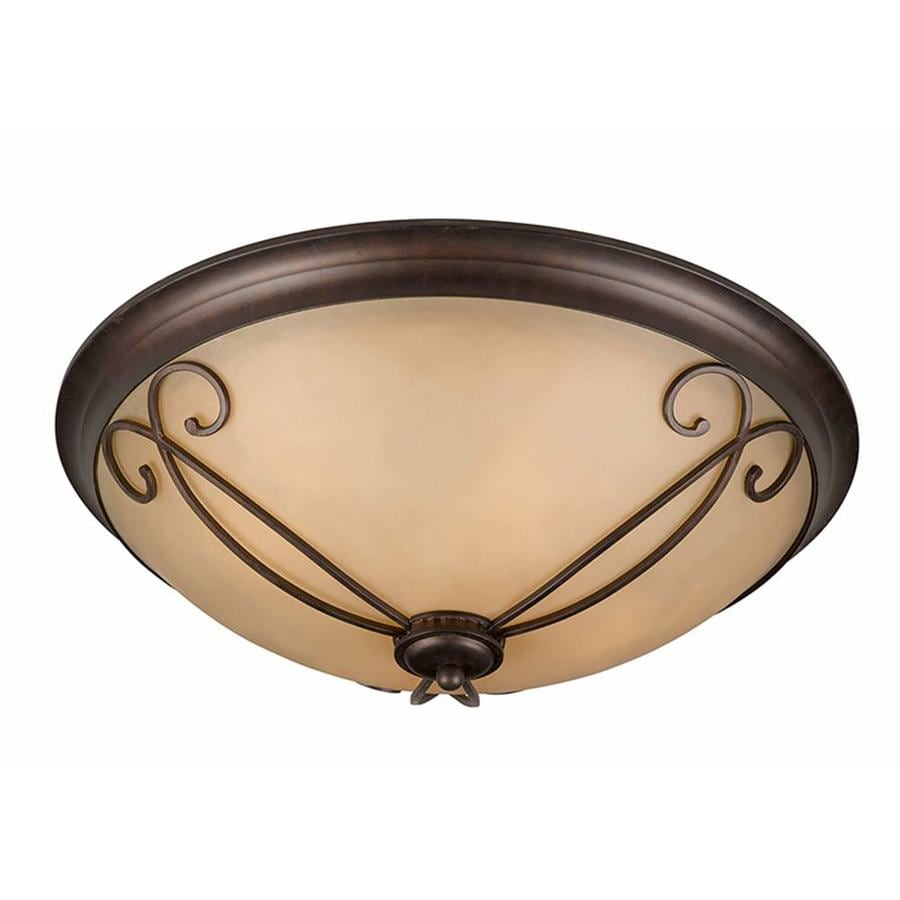 Stepanov 23-in W Bronze Ceiling Flush Mount Light