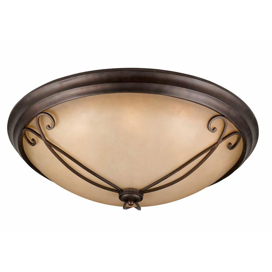 Stepanov 32-in W Bronze Ceiling Flush Mount Light