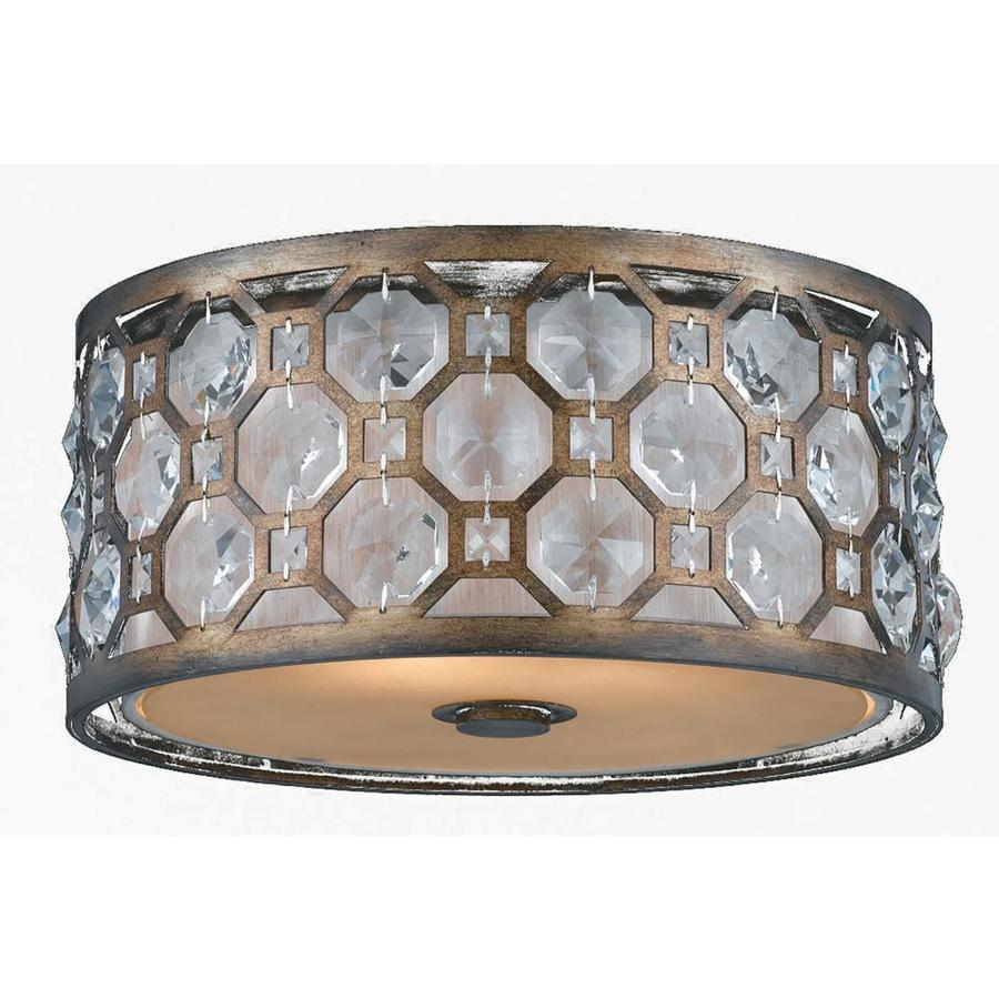 Larenta 15-in W Hand Painted Weathered Bronze Ceiling Flush Mount Light
