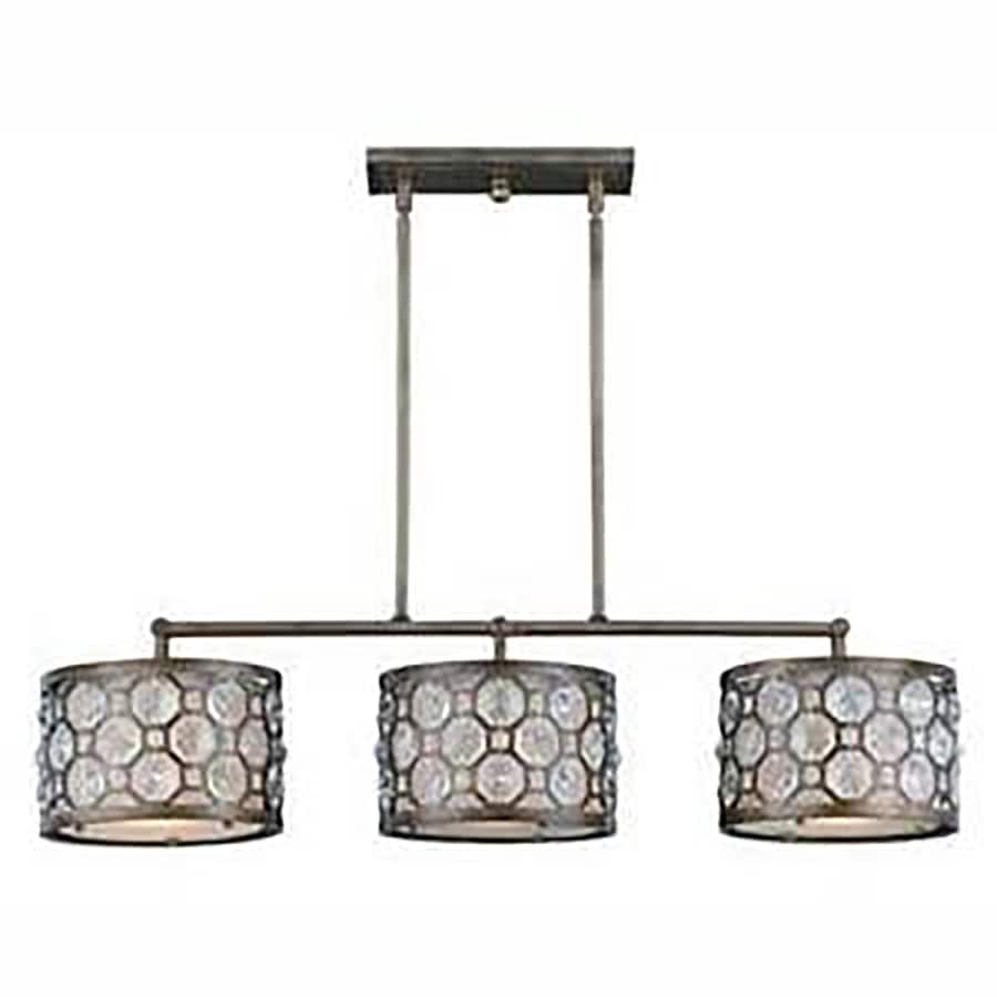 Shop Larenta 40 In W 3 Light Bronze Kitchen Island Light