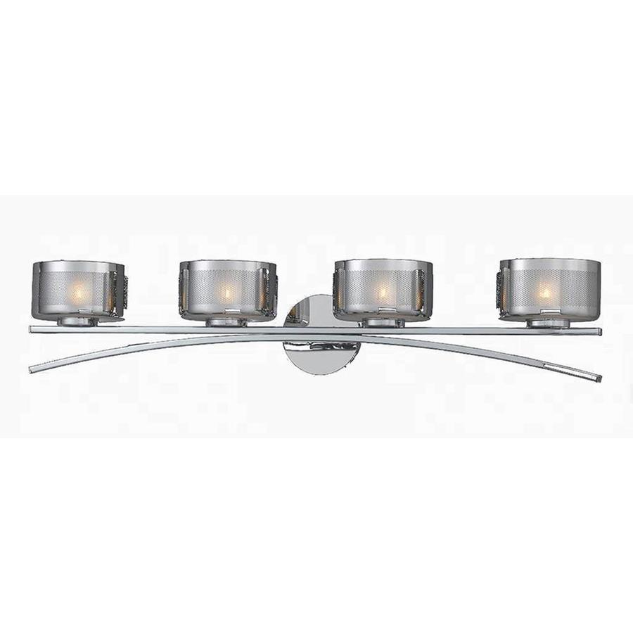 Shop Pandora 4 Light Chrome Vanity Light At