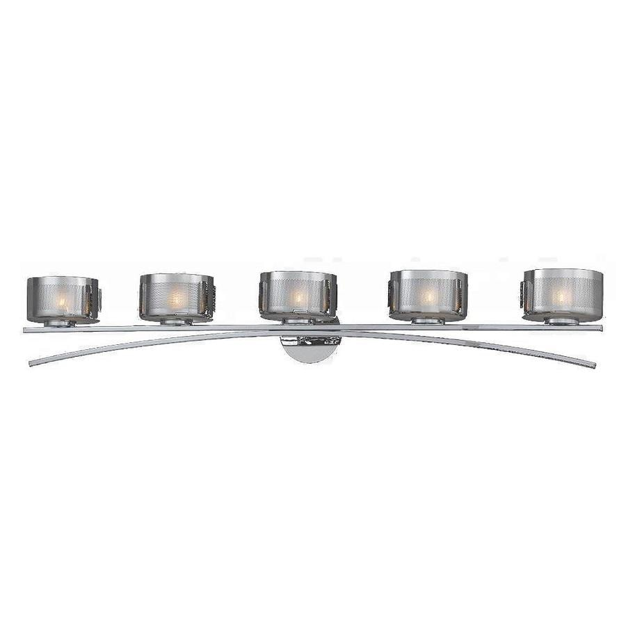 shop 5 light pandora chrome bathroom vanity light at lowes