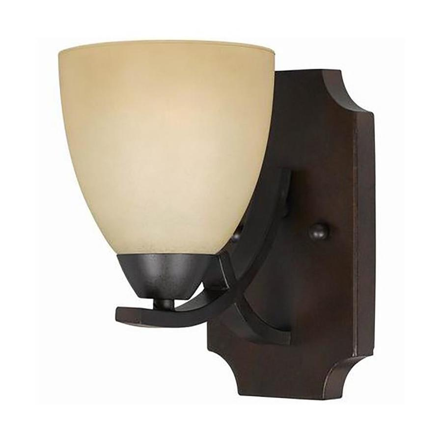 Anitra 5-in W 1-Light Bronze Arm Wall Sconce