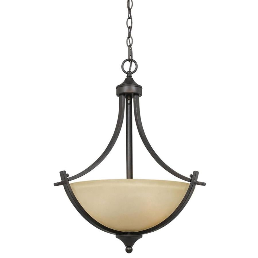 Anitra 20-in Bronze Single Tinted Glass Pendant