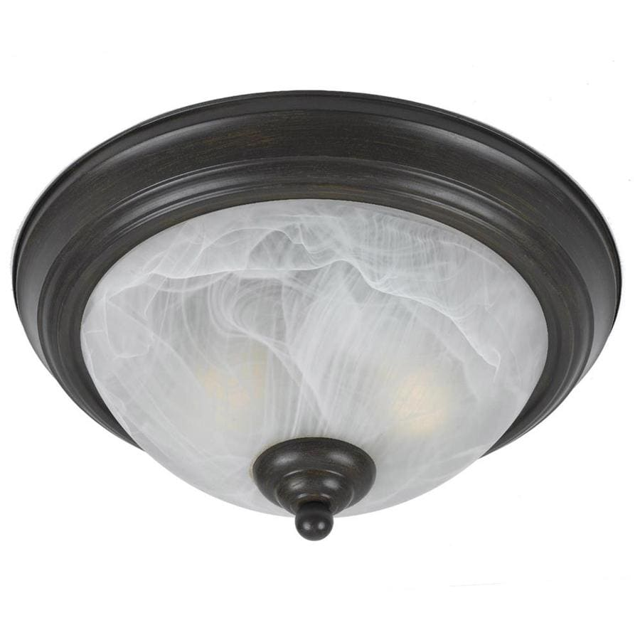 Candace 14-in W Bronze Ceiling Flush Mount Light