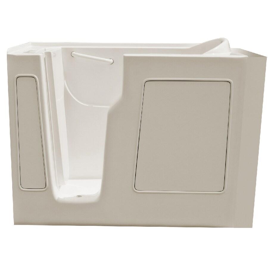 Endurance Gelcoat and Fiberglass Rectangular Walk-in Bathtub with Left-Hand Drain (Common: 30-in x 52-in; Actual: 40-in x 29-in x 52-in)