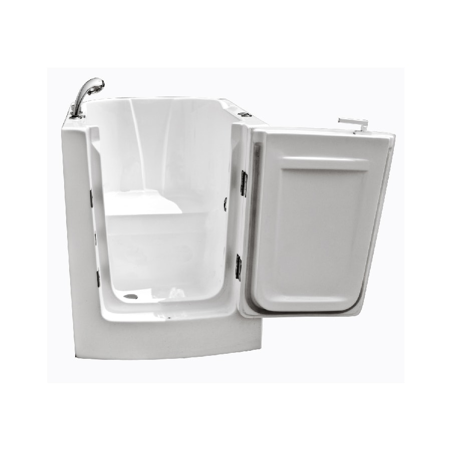 Endurance Acrylic Rectangular Walk-in Bathtub with Left-Hand Drain (Common: 32-in x 40-in; Actual: 38-in x 32-in x 38-in)