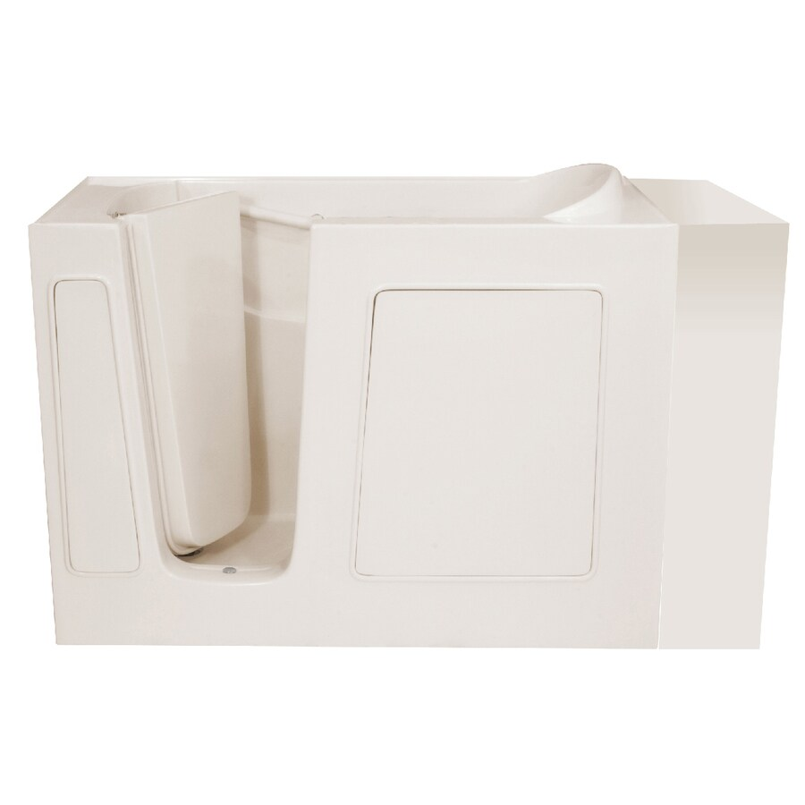 Endurance Gelcoat and Fiberglass Rectangular Walk-in Bathtub with Left-Hand Drain (Common: 26-in x 54-in; Actual: 38-in x 26-in x 53-in)