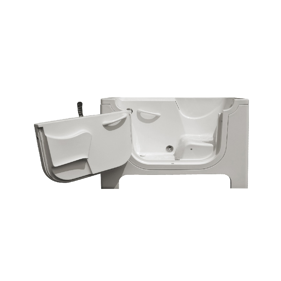 Endurance Gelcoat and Fiberglass Rectangular Walk-in Bathtub with Left-Hand Drain (Common: 30-in x 60-in; Actual: 42-in x 30-in x 60-in)