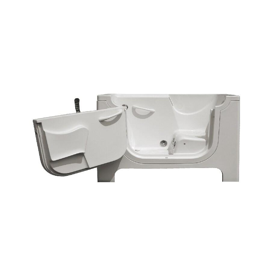 Endurance Endurance Tubs White Fiberglass Rectangular Walk-in Whirlpool Tub (Common: 30-in x 60-in; Actual: 42-in x 30-in x 60-in)