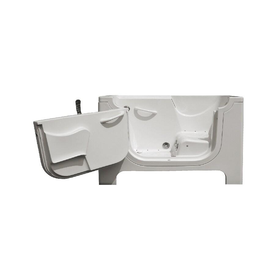 Endurance Endurance Tubs 30-in L x 60-in W x 42-in H White Fiberglass Rectangular Walk-in Whirlpool Tub and Air Bath