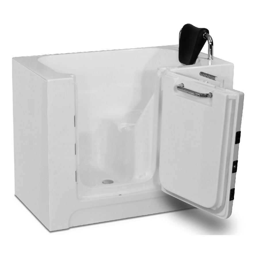Endurance Acrylic Rectangular Walk-in Bathtub with Left-Hand Drain (Common: 30-in x 40-in; Actual: 37-in x 27-in x 39-in)