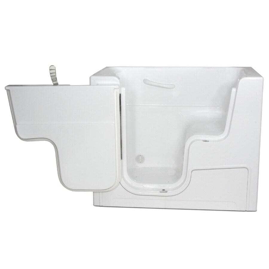 Endurance Gelcoat and Fiberglass Rectangular Walk-in Bathtub with Left-Hand Drain (Common: 30-in x 52-in; Actual: 42-in x 29-in x 52-in)