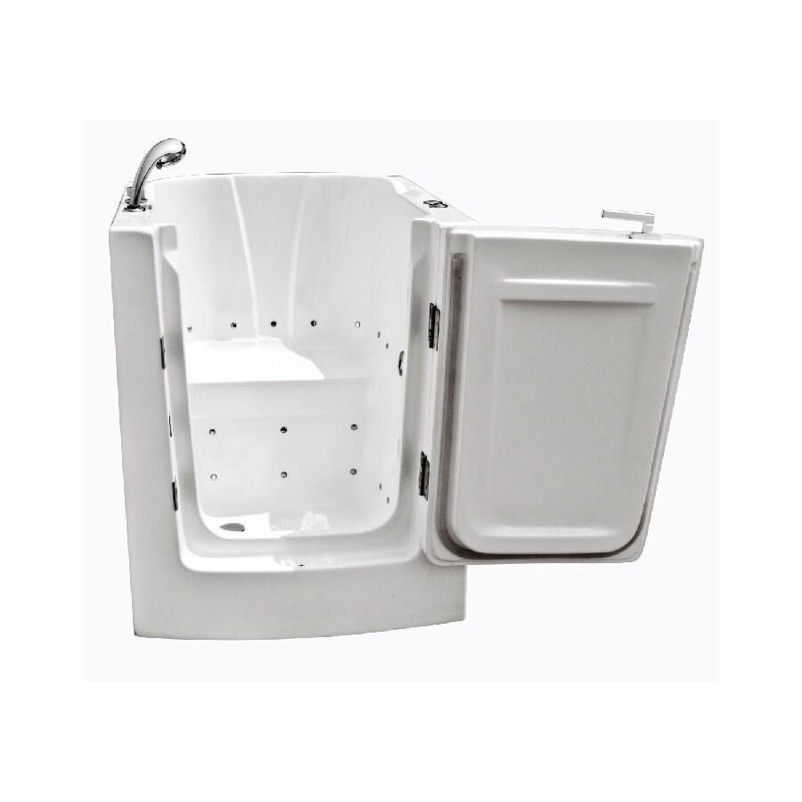 Endurance Endurance Tubs 38-in L x 32-in W x 35-in H White Acrylic Rectangular Walk-in Air Bath