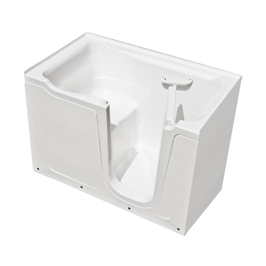 Endurance Gelcoat and Fiberglass Rectangular Walk-in Bathtub with Right-Hand Drain (Common: 36-in x 60-in; Actual: 38-in x 36-in x 60-in)