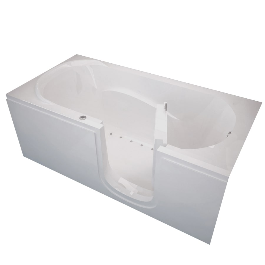 Shop Endurance Endurance Tubs 30 In L X 60 In W X 22 In H White Acrylic Recta