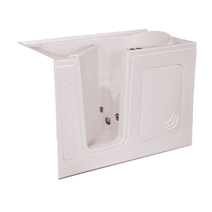 Endurance Endurance Tubs Biscuit Acrylic Rectangular Walk-in Whirlpool Tub (Common: 32-in x 60-in; Actual: 38-in x 32-in x 60-in)