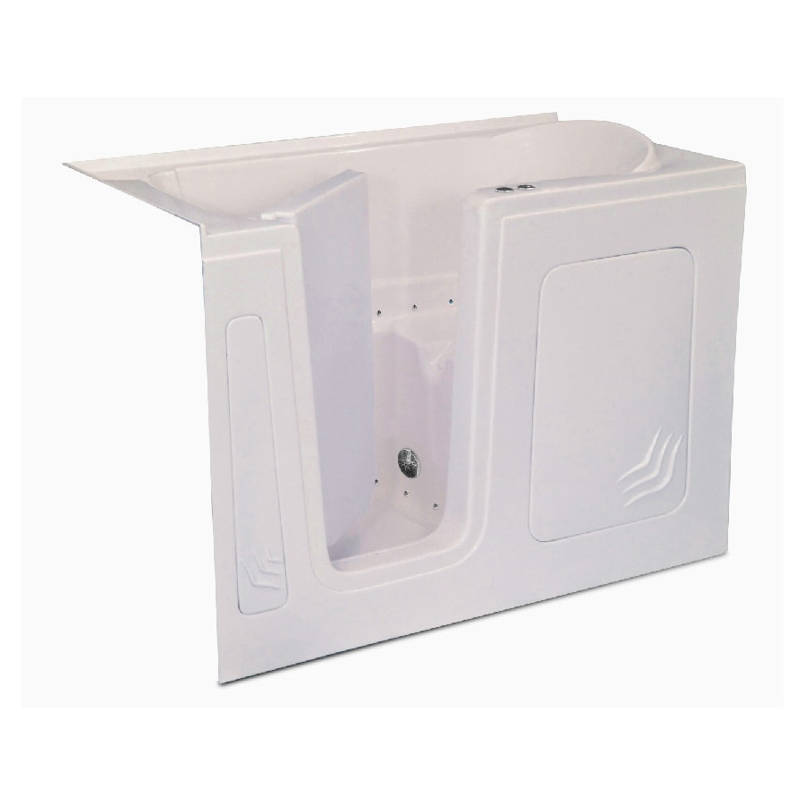 Endurance Endurance Tubs 32-in L x 60-in W x 38-in H Biscuit Acrylic Rectangular Walk-in Air Bath
