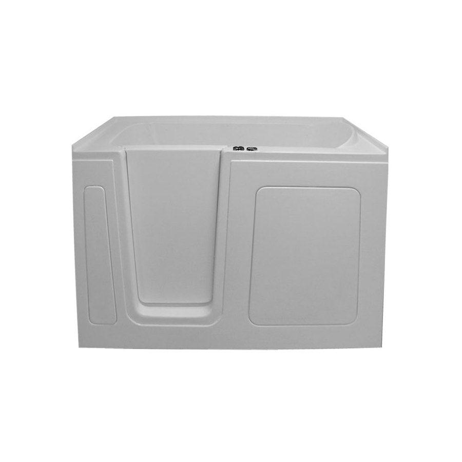 Endurance 54-in L x 30-in W x 38-in H White Acrylic Rectangular Walk-in Air Bath