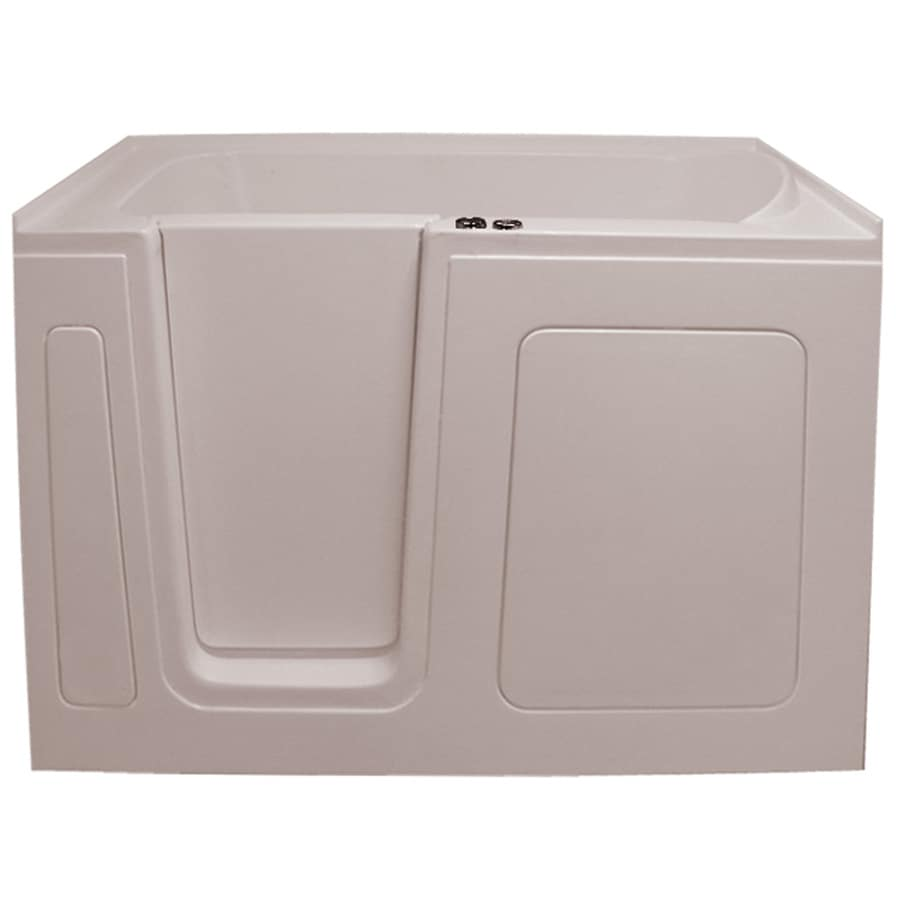 Endurance Endurance Tubs 30-in L x 54-in W x 38-in H Biscuit Acrylic Rectangular Walk-in Air Bath