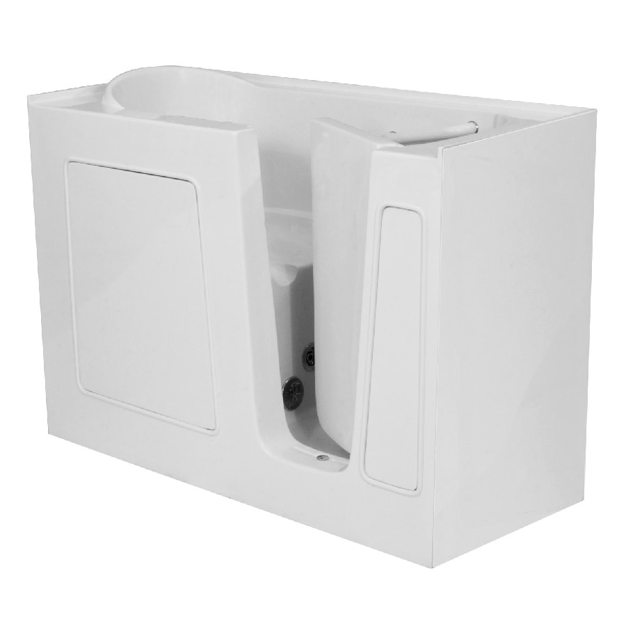 Endurance Gelcoat and Fiberglass Rectangular Walk-in Bathtub with Right-Hand Drain (Common: 30-in x 60-in; Actual: 38-in x 30-in x 60-in)