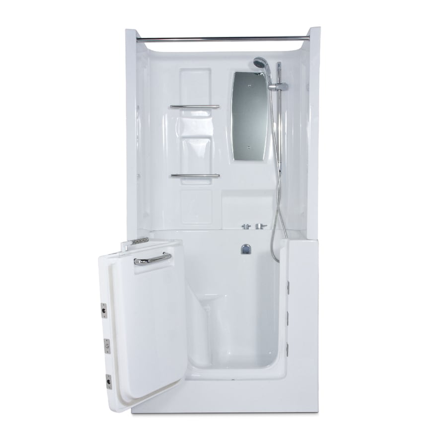 Endurance Endurance Tubs White Acrylic Rectangular Walk-in Whirlpool Tub (Common: 32-in x 40-in; Actual: 36-in x 31-in x 40-in)