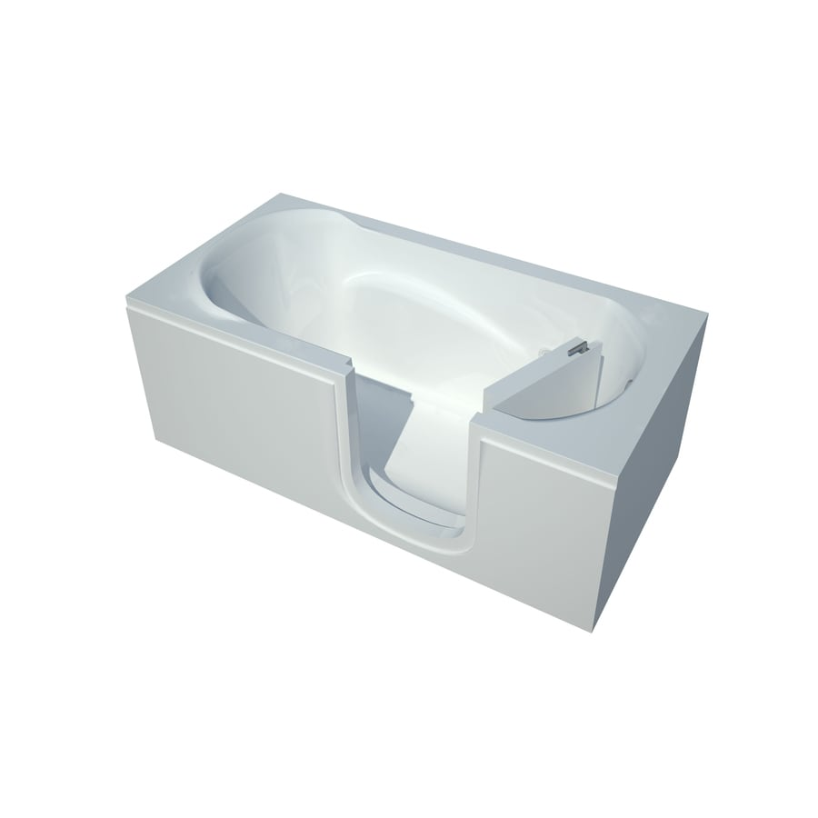 Endurance Acrylic Rectangular Walk-in Bathtub with Right-Hand Drain (Common: 30-in x 60-in; Actual: 20-in x 30-in x 60-in)