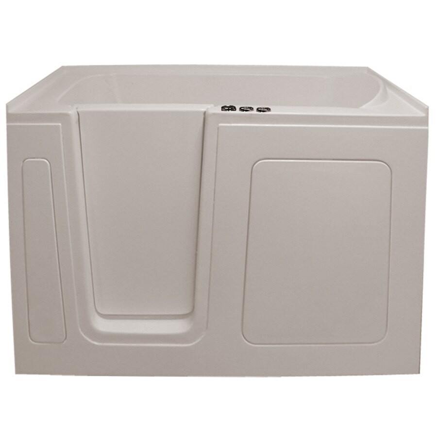 Endurance Endurance Tubs 30-in L x 54-in W x 38-in H Biscuit Acrylic Rectangular Walk-in Whirlpool Tub and Air Bath