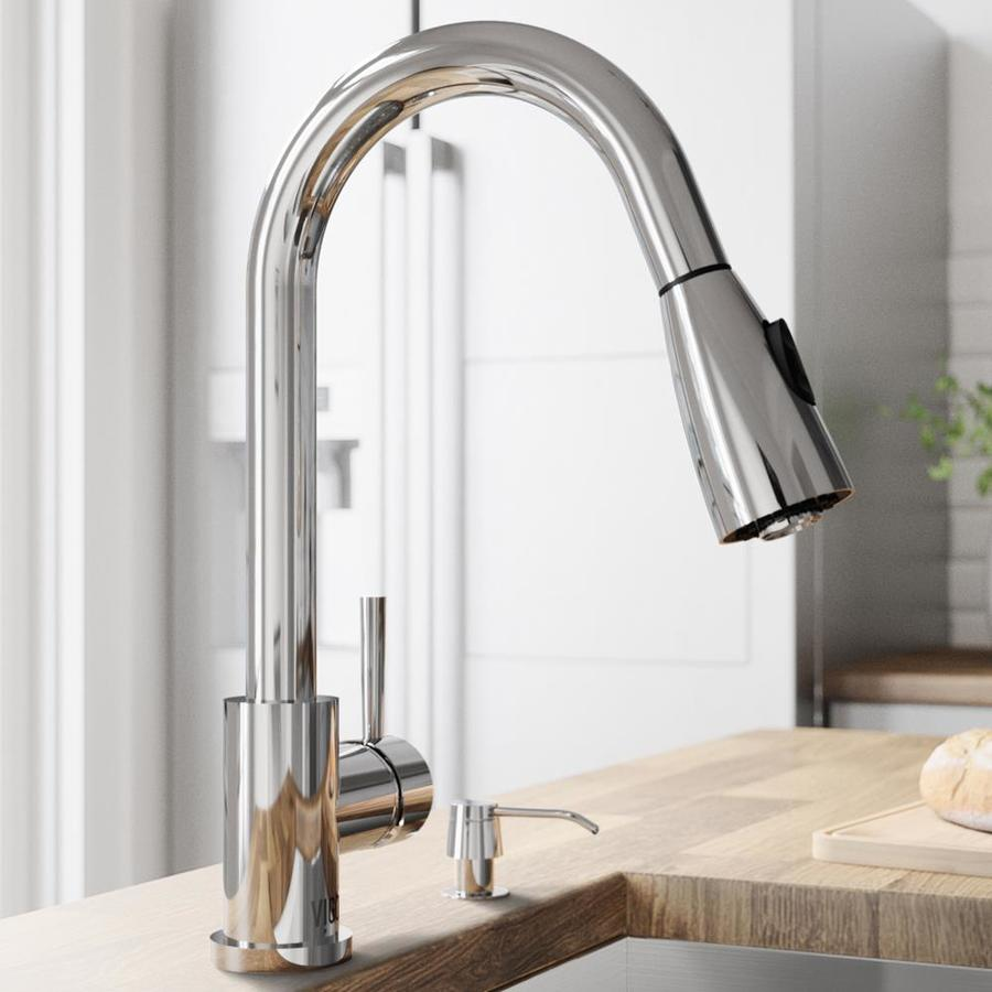VIGO Chrome 1-Handle Pull-Out Kitchen Faucet
