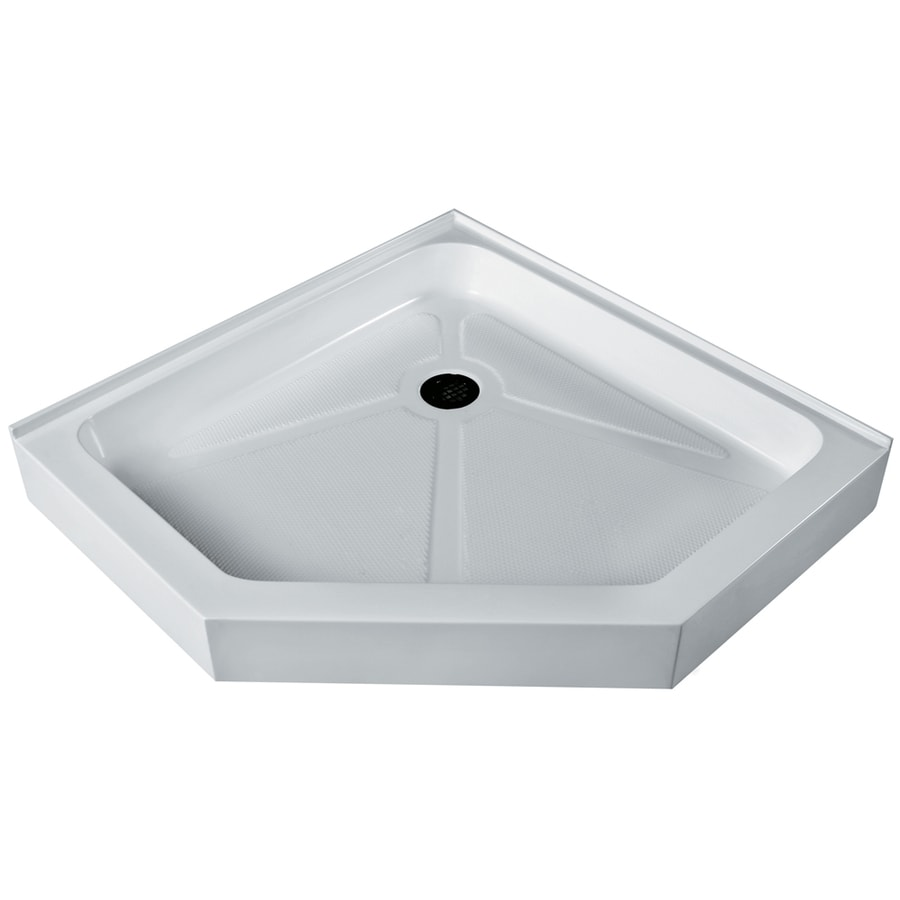 VIGO White Acrylic Shower Base (Common: 36-in W x 36-in L; Actual: 36.125-in W x 36.25-in L)