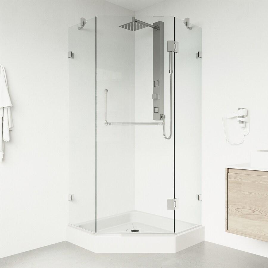 VIGO Piedmont 36-in W x 78-3/4-in H Frameless Neo-Angle Shower Door