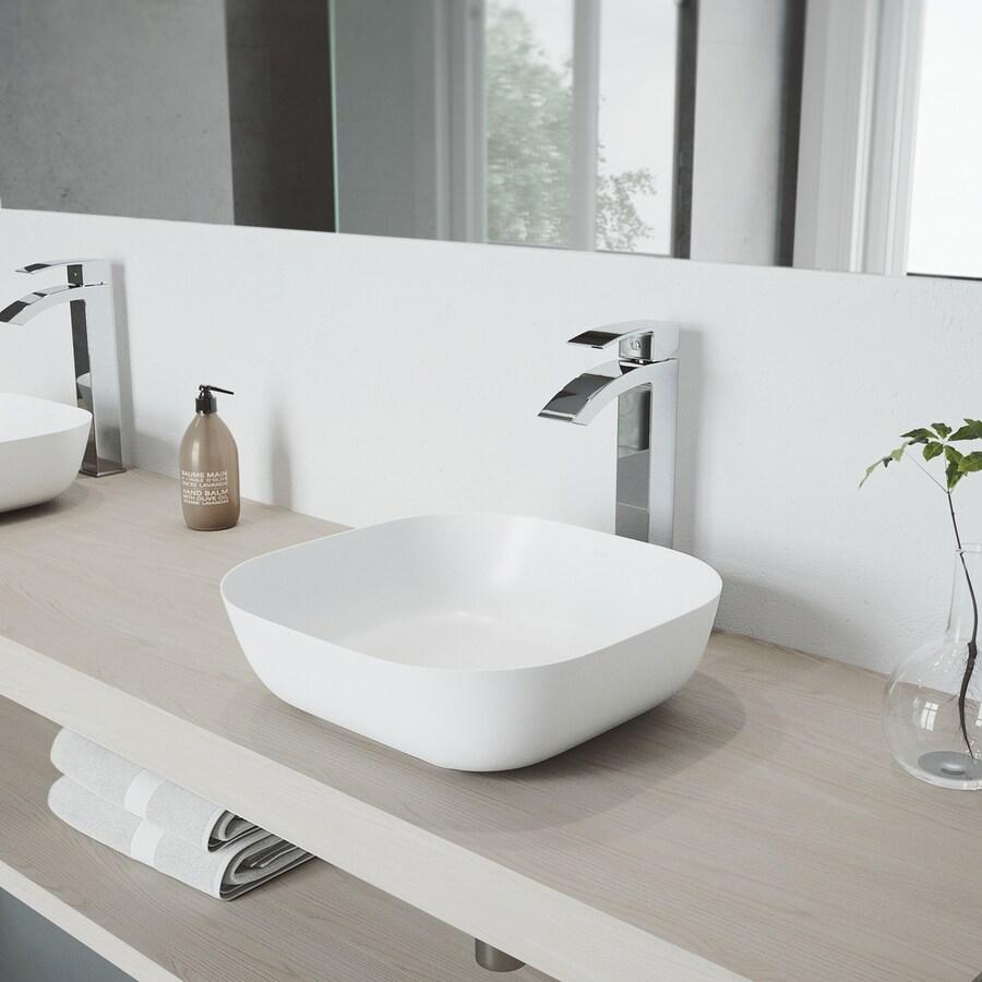 VIGO Chrome 1-Handle Single Hole WaterSense Bathroom Faucet