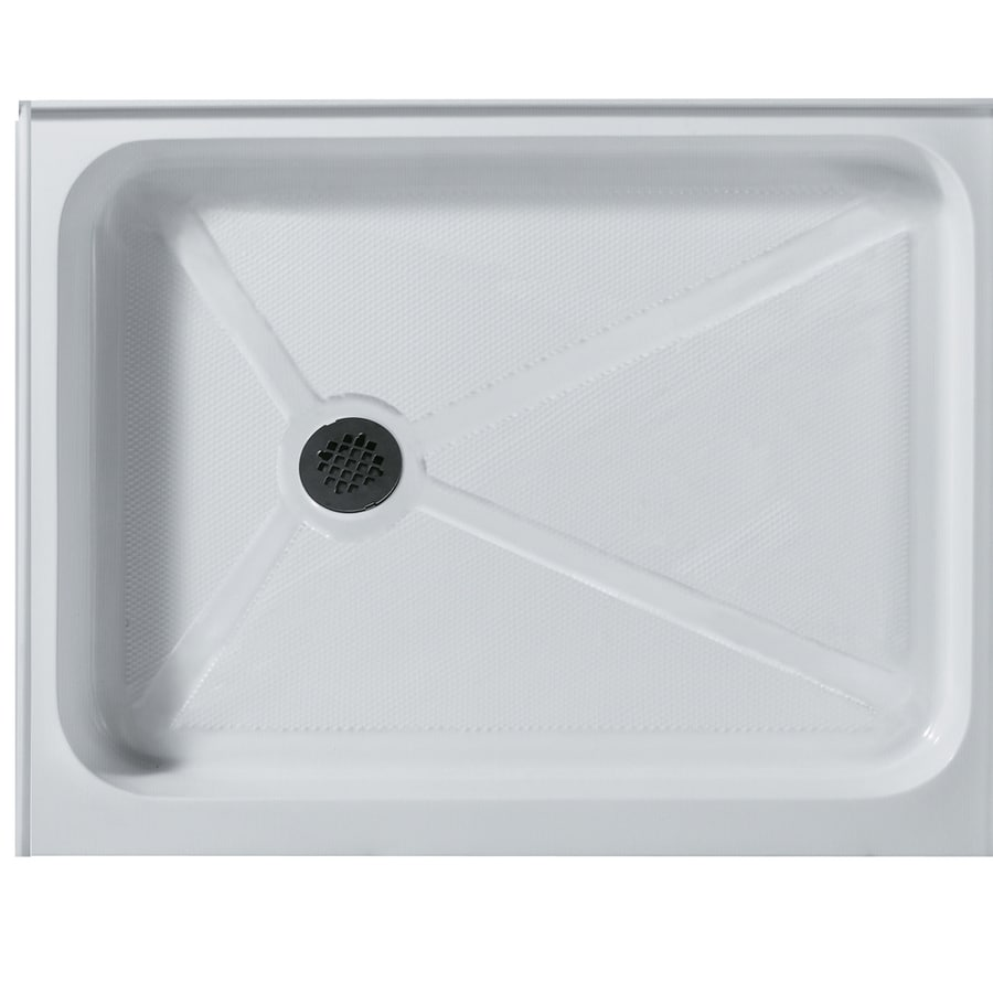 VIGO Shower Tray White Acrylic Shower Base (Common: 48-in W x 36-in L; Actual: 48.125-in W x 36.125-in L)