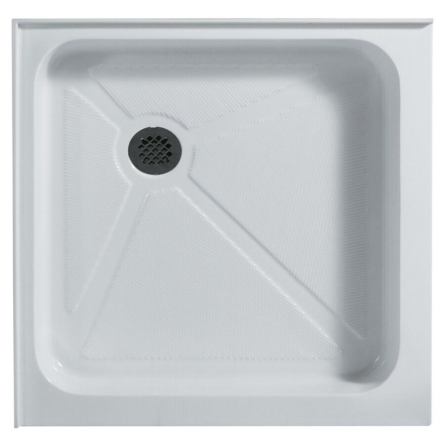 VIGO White Acrylic Shower Base (Common: 36-in W x 36-in L; Actual: 36.125-in W x 36.125-in L)
