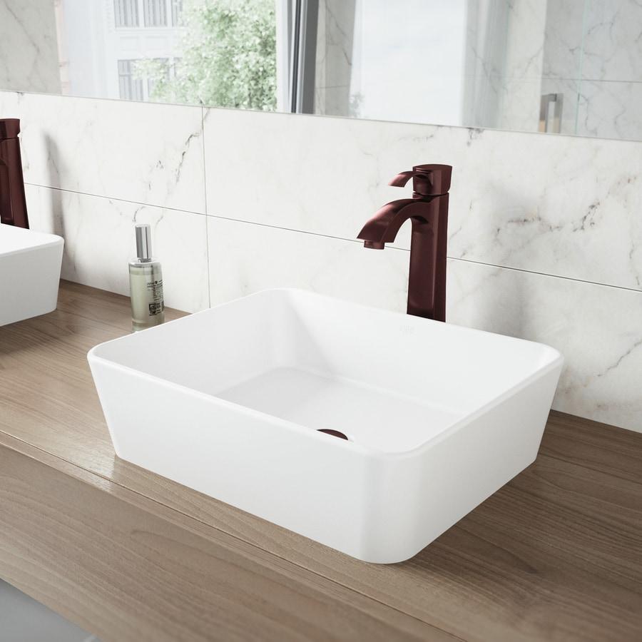 VIGO Oil-Rubbed Bronze 1-Handle Single Hole WaterSense Bathroom Faucet