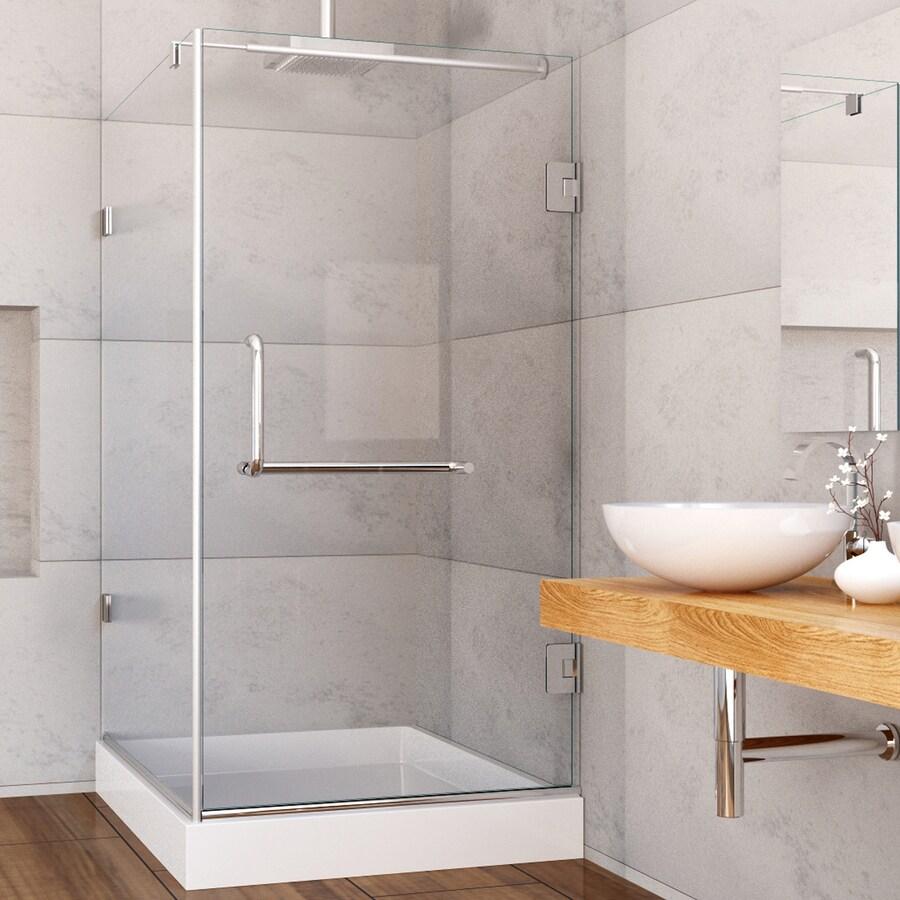 Shop Vigo 36 In To 48 In Frameless Hinged Shower Door At