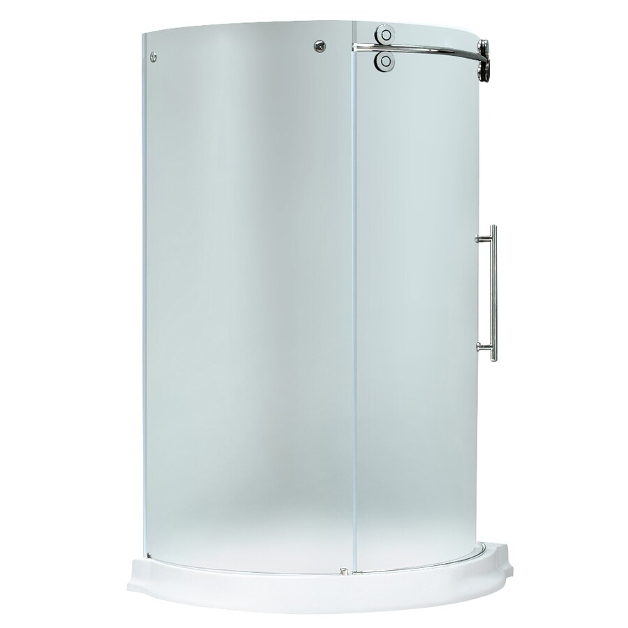 Shop Vigo Frameless Showers Chrome Acrylic Floor Round 3