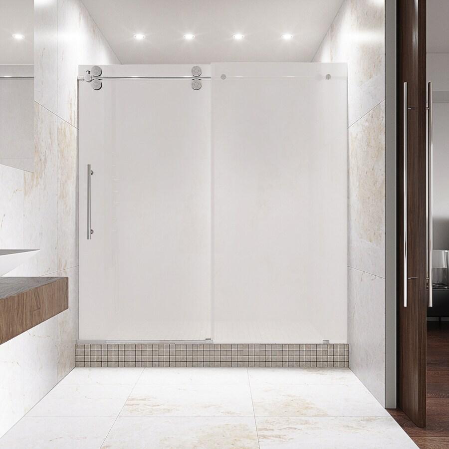 Shop Vigo 56 In To 60 In W X 74 In H Frameless Sliding Shower Door At