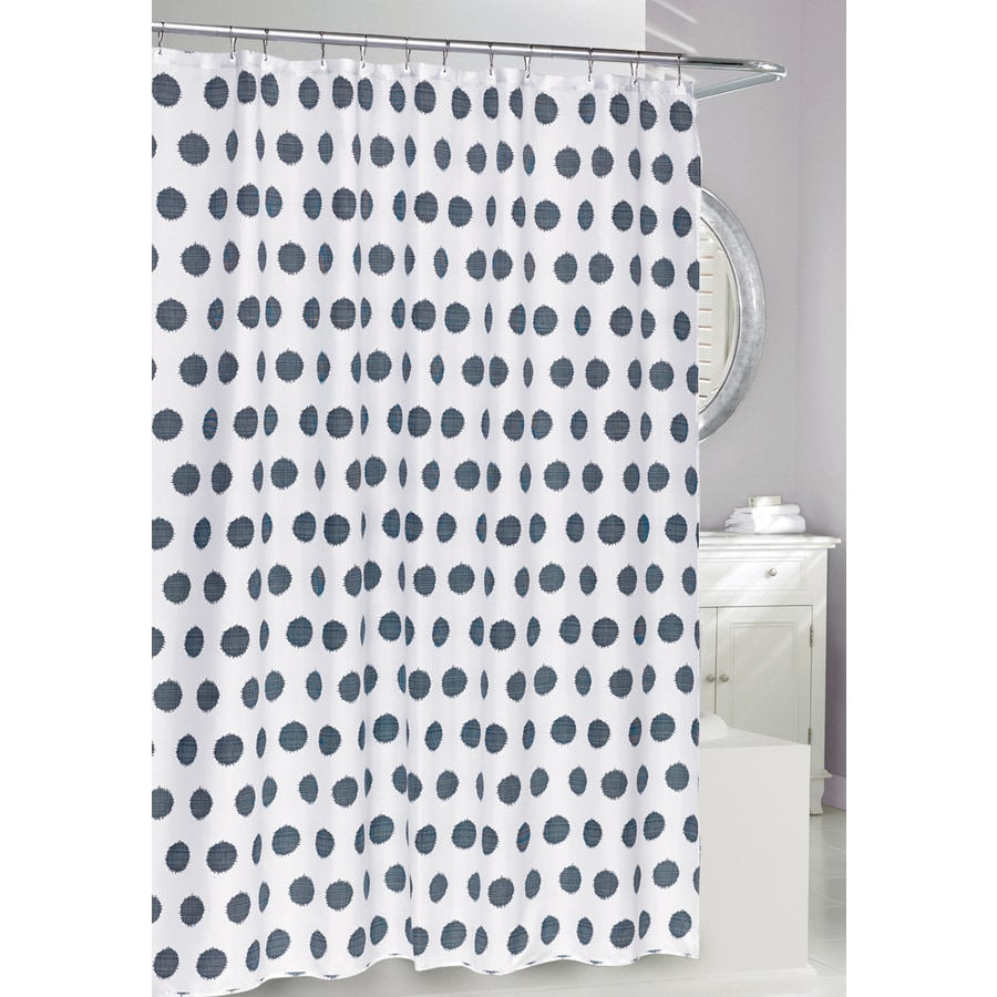 Moda at Home Thatch Polyester Navy Patterned Shower Curtain