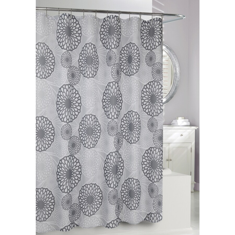 Moda at Home Wren Polyester Grey Patterned Shower Curtain