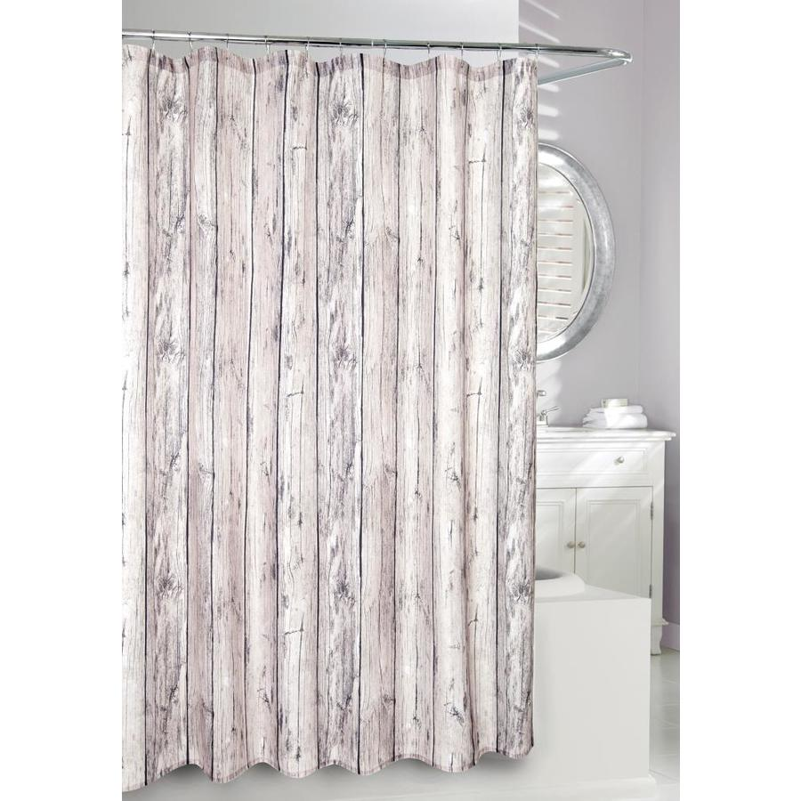 Moda at Home Oakwood Polyester Taupe Patterned Shower Curtain