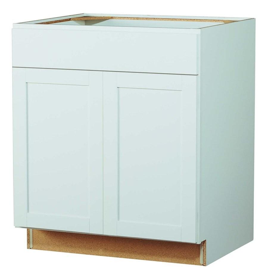 Arcade Green 21-in W x 34.5-in H x 24-in D White Shaker Door Base Cabinet