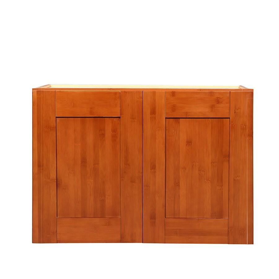 Arcade Green 21-in W x 30-in H x 12-in D Cherry Cherry Shaker Door Wall Cabinet