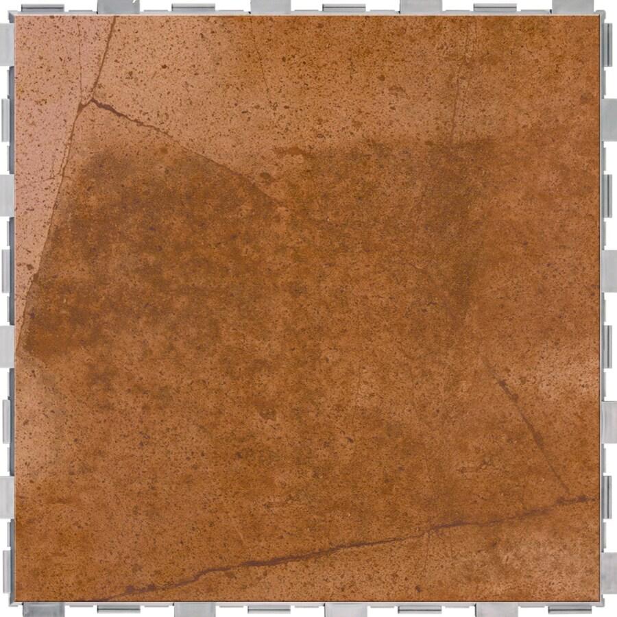 SnapStone Interlocking 4-Pack Ferrous Porcelain Floor Tile (Common: 18-in x 18-in; Actual: 18-in x 18-in)