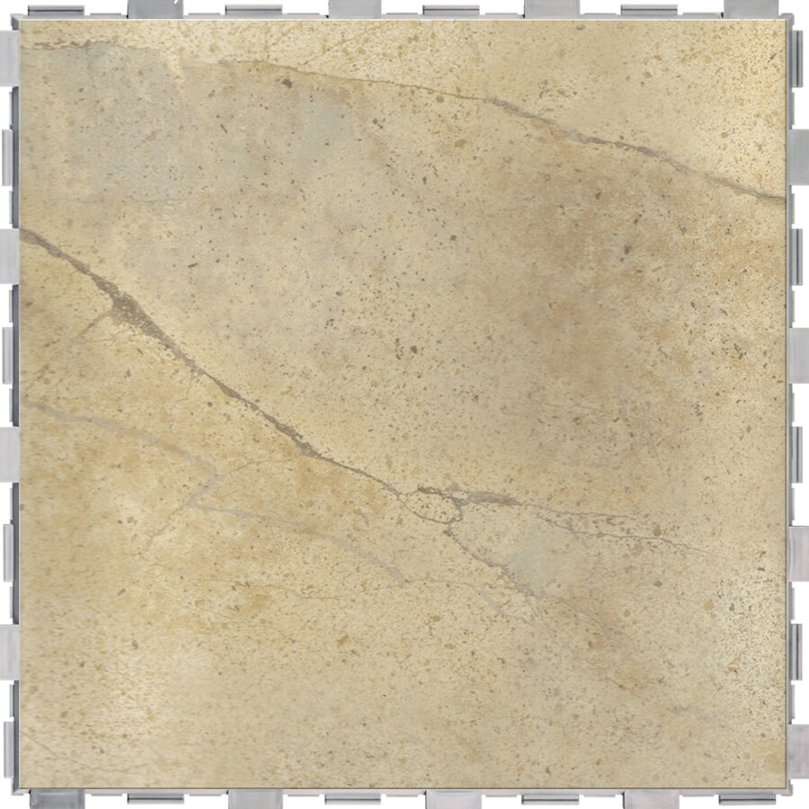 Shop snapstone 4 pack stucco porcelain floor tile common for Ceramic flooring