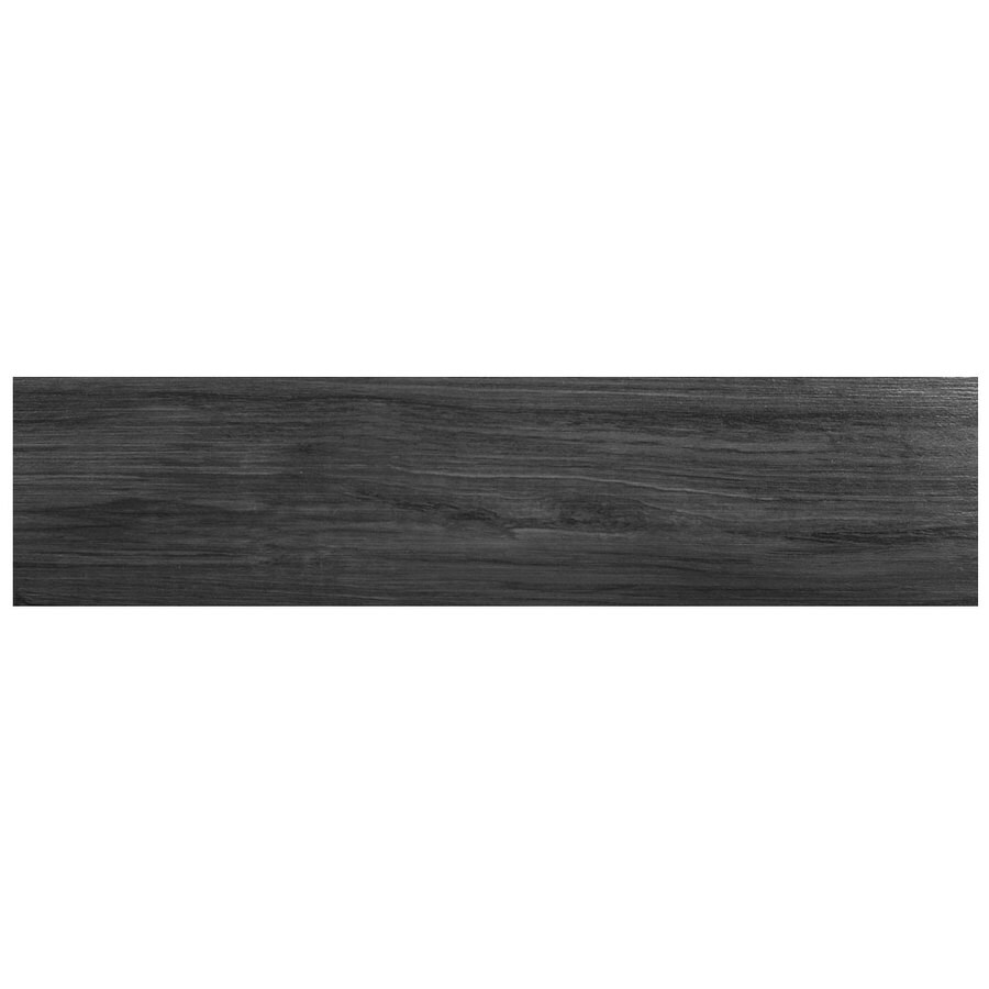 SnapStone Non-Interlocking 12-Pack Shadow Wood Look Porcelain Floor Tile (Common: 6-in x 24-in; Actual: 23.63-in x 5.79-in)