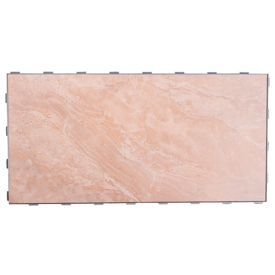 SnapStone Interlocking 4-Pack Beach Porcelain Floor Tile (Common: 12-in x 24-in; Actual: 23.79-in x 11.89-in)