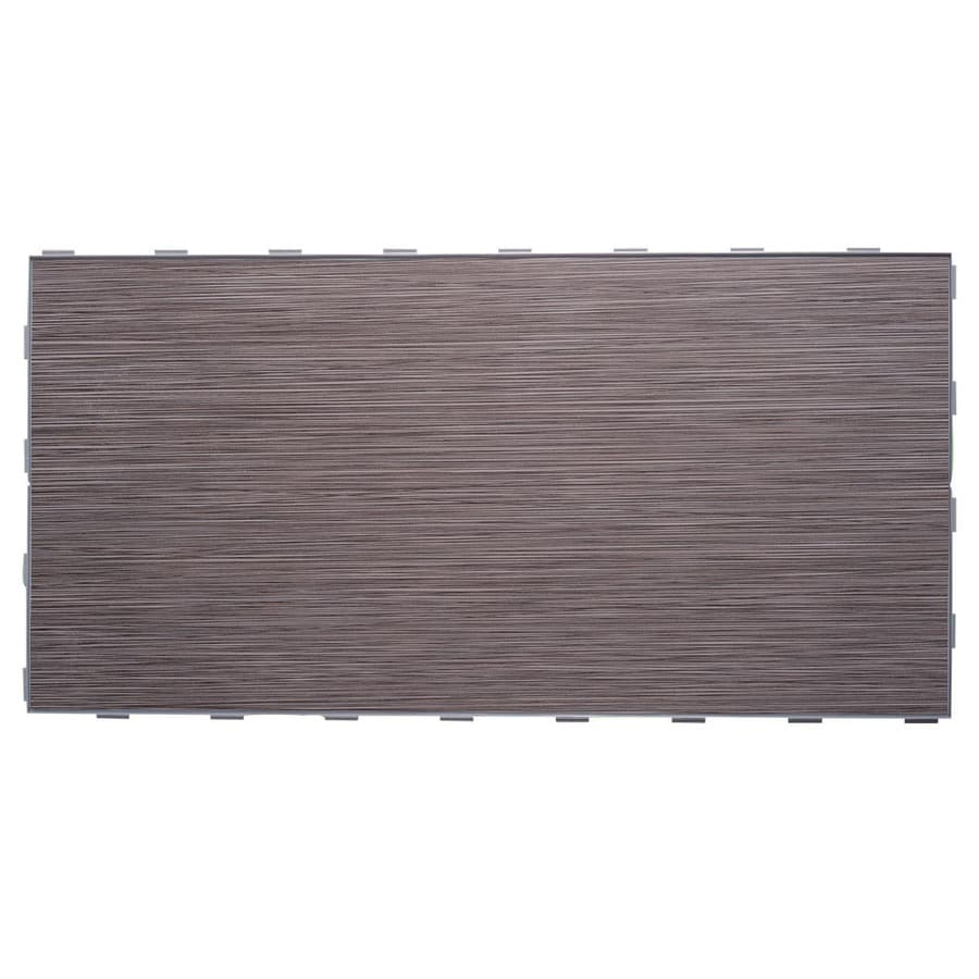 SnapStone Interlocking 4-Pack Graphite Porcelain Floor Tile (Common: 12-in x 24-in; Actual: 23.79-in x 11.89-in)