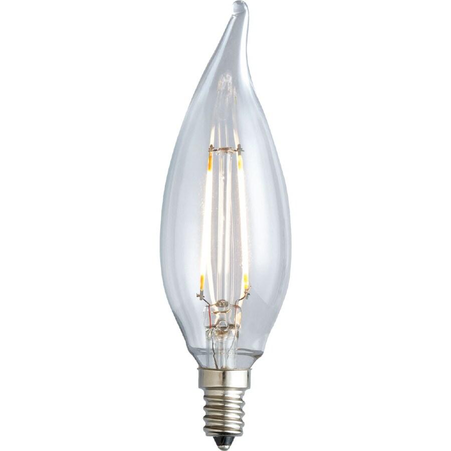 Kichler Lighting Decorative 2-Watt (25W Equivalent) 2,700K Candelabra Base (E-12) Soft White Dimmable Decorative LED Light Bulb